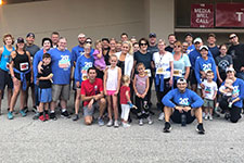 Photo of group at Hoosiers Outrun Cancer event.